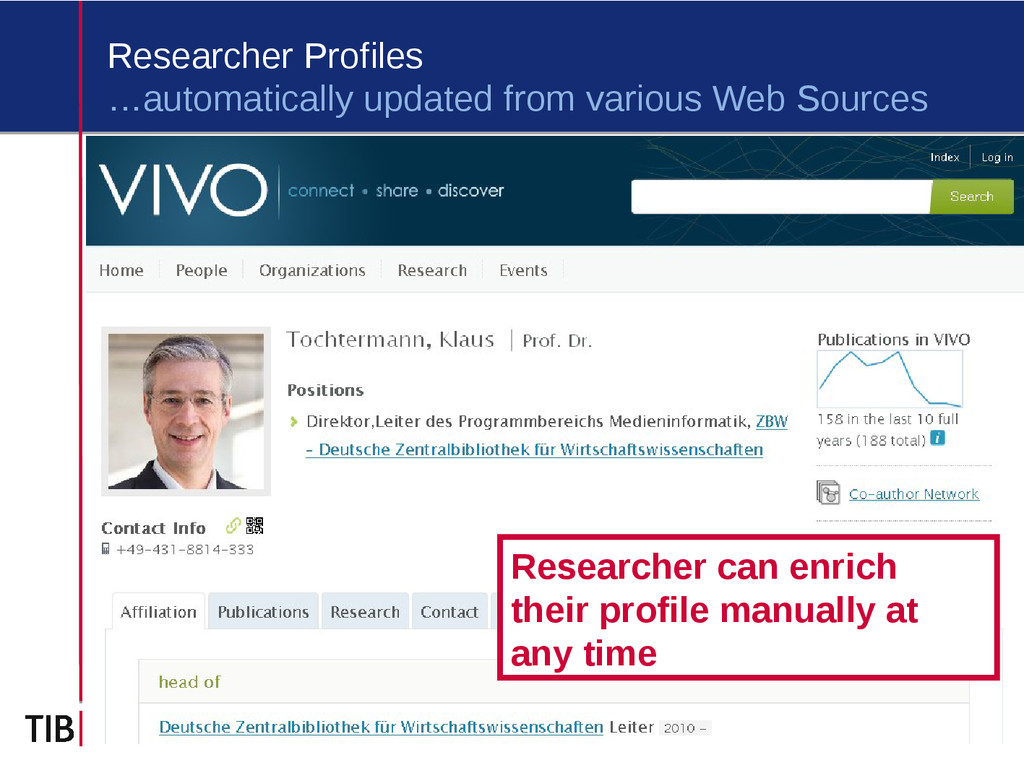 3 Researcher Profiles …automatically updated fr...