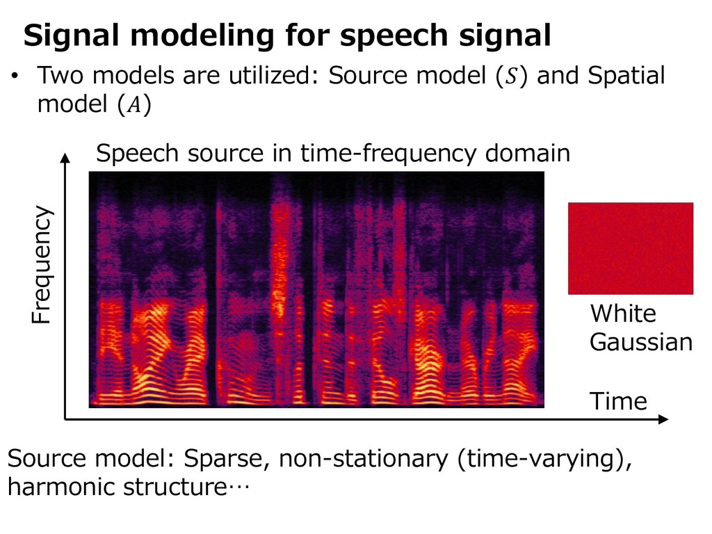 Signal modeling for speech signal • Two models ...