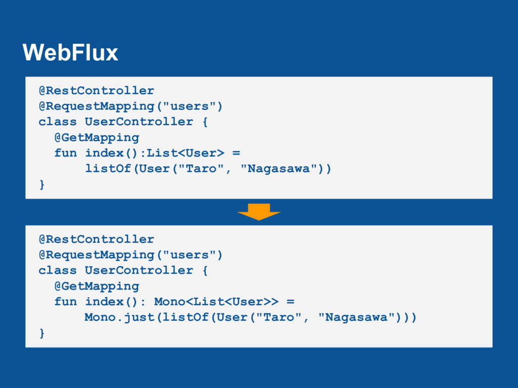 """WebFlux @RestController @RequestMapping(""""users""""..."""
