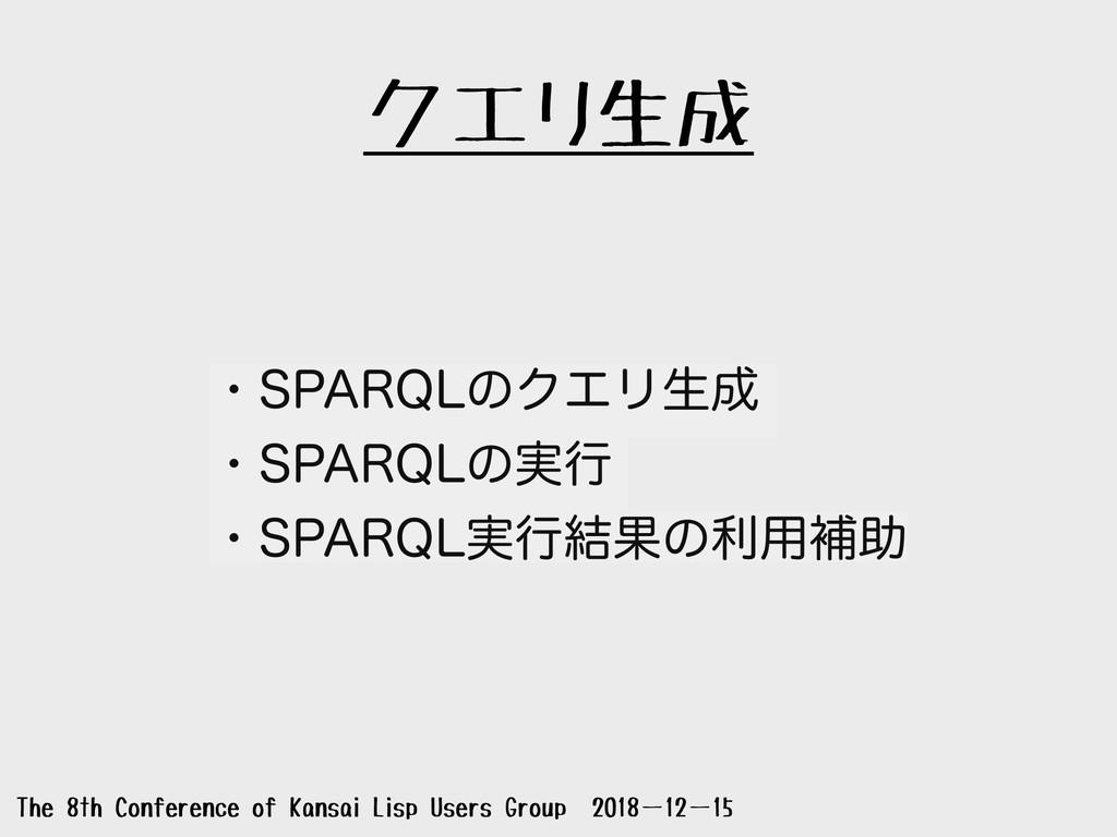 クエリ生成 The 8th Conference of Kansai Lisp Users G...