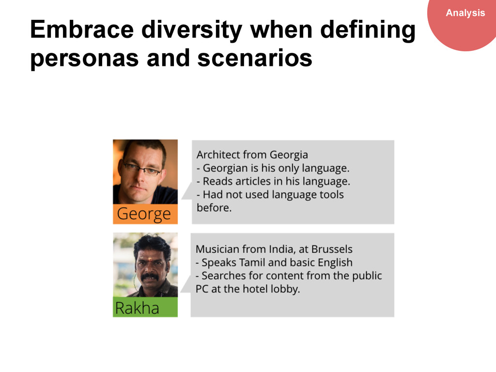 Embrace diversity when defining personas and sc...