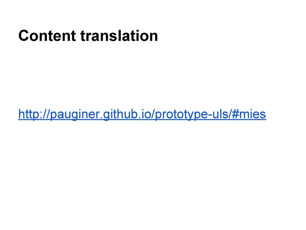 Content translation http://pauginer.github.io/p...