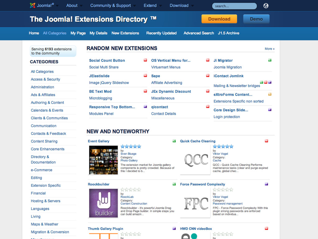 http://extensions.joomla.org