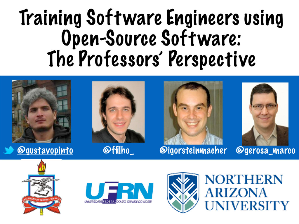 Training Software Engineers using Open-Source S...