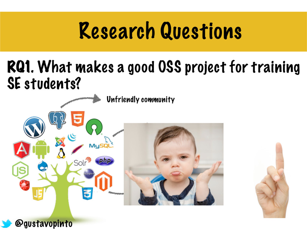 RQ1. What makes a good OSS project for training...