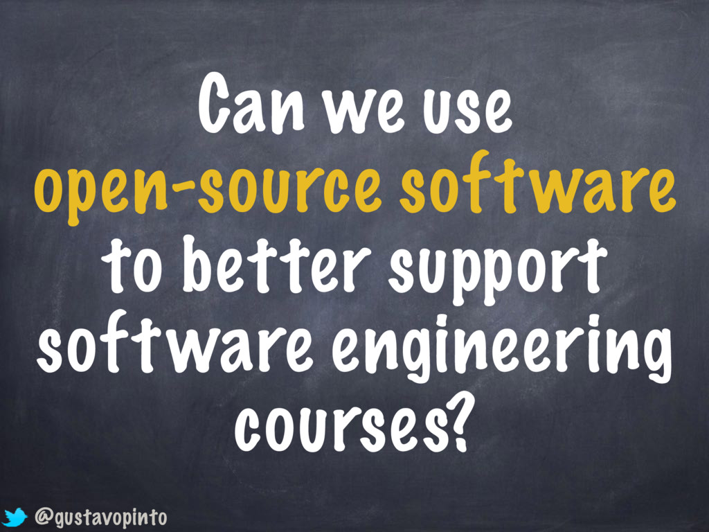 Can we use open-source software to better suppo...