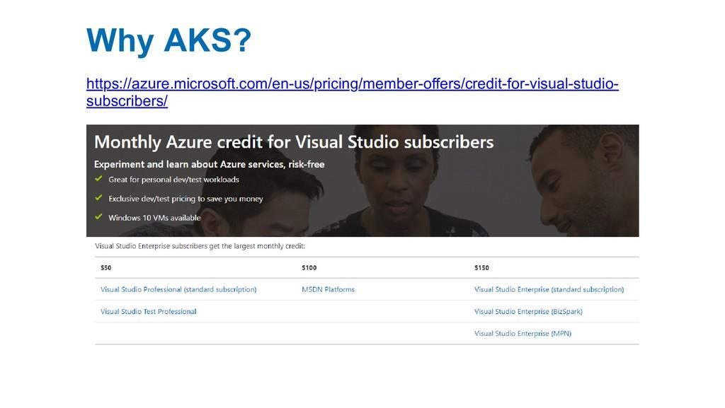 Why AKS? https://azure.microsoft.com/en-us/pric...