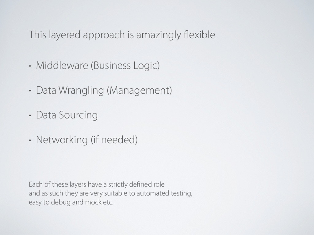 • Middleware (Business Logic) • Data Wrangling ...