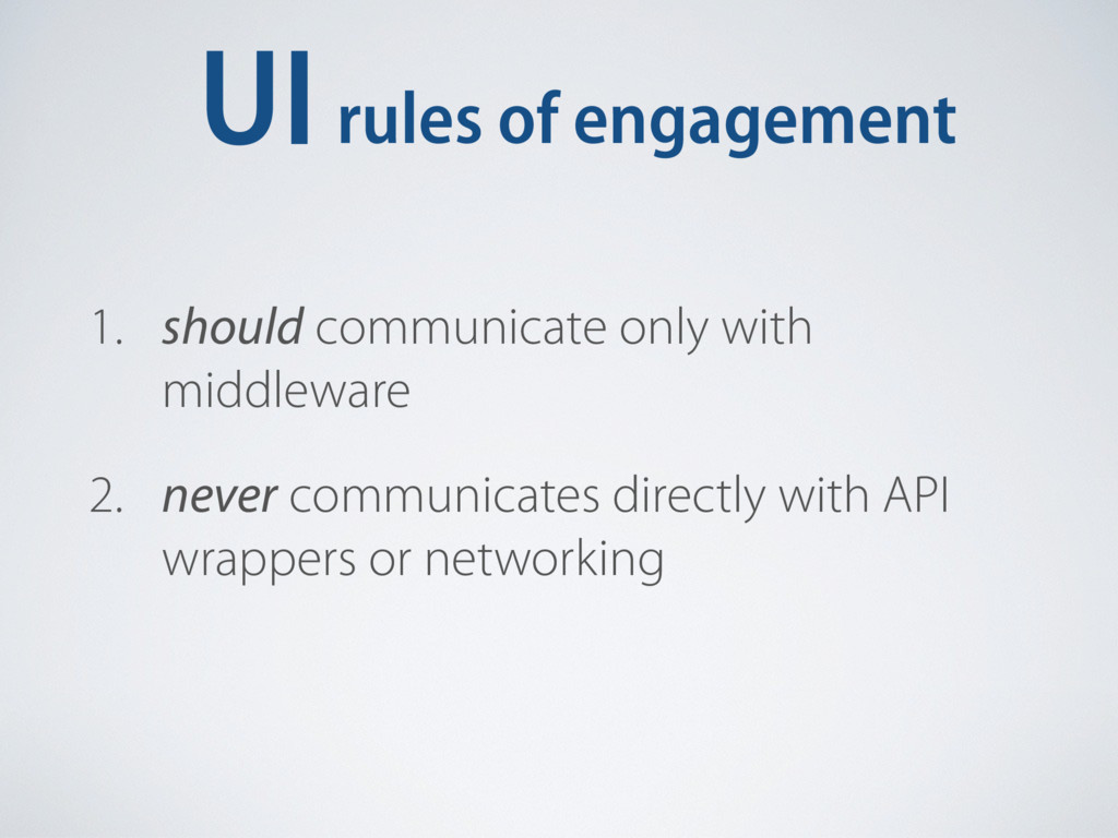 UIrules of engagement 1. should communicate onl...
