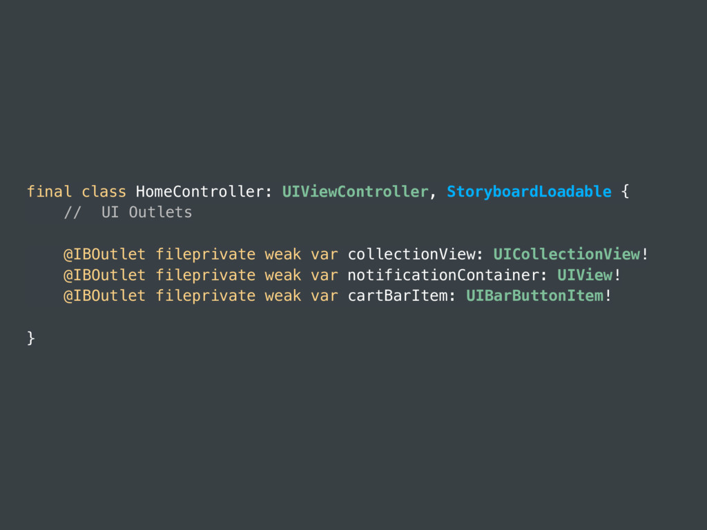 final class HomeController: UIViewController, S...