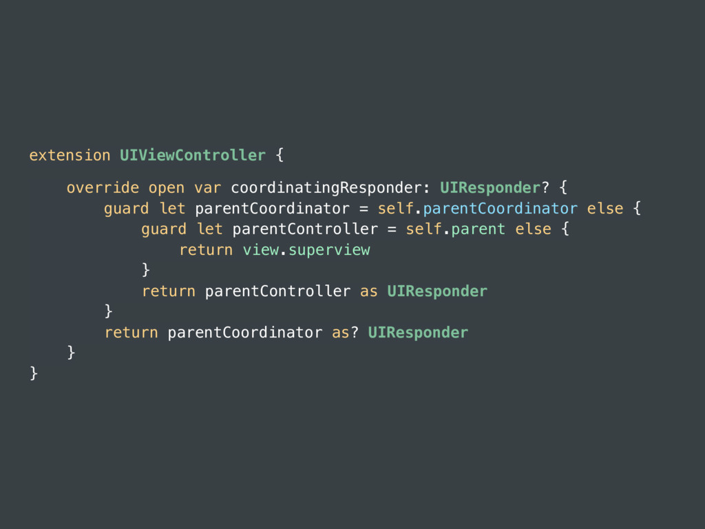 extension UIViewController { override open var ...