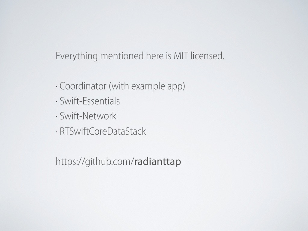 Everything mentioned here is MIT licensed. · Co...