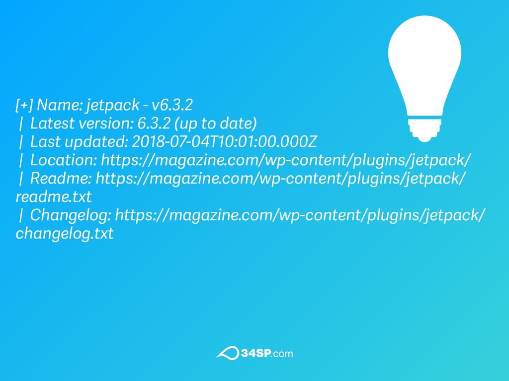 [+] Name: jetpack - v6.3.2 | Latest version: 6....