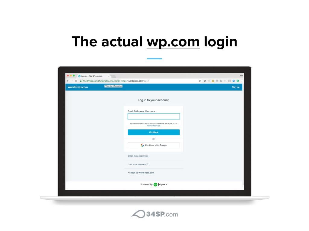 The actual wp.com login