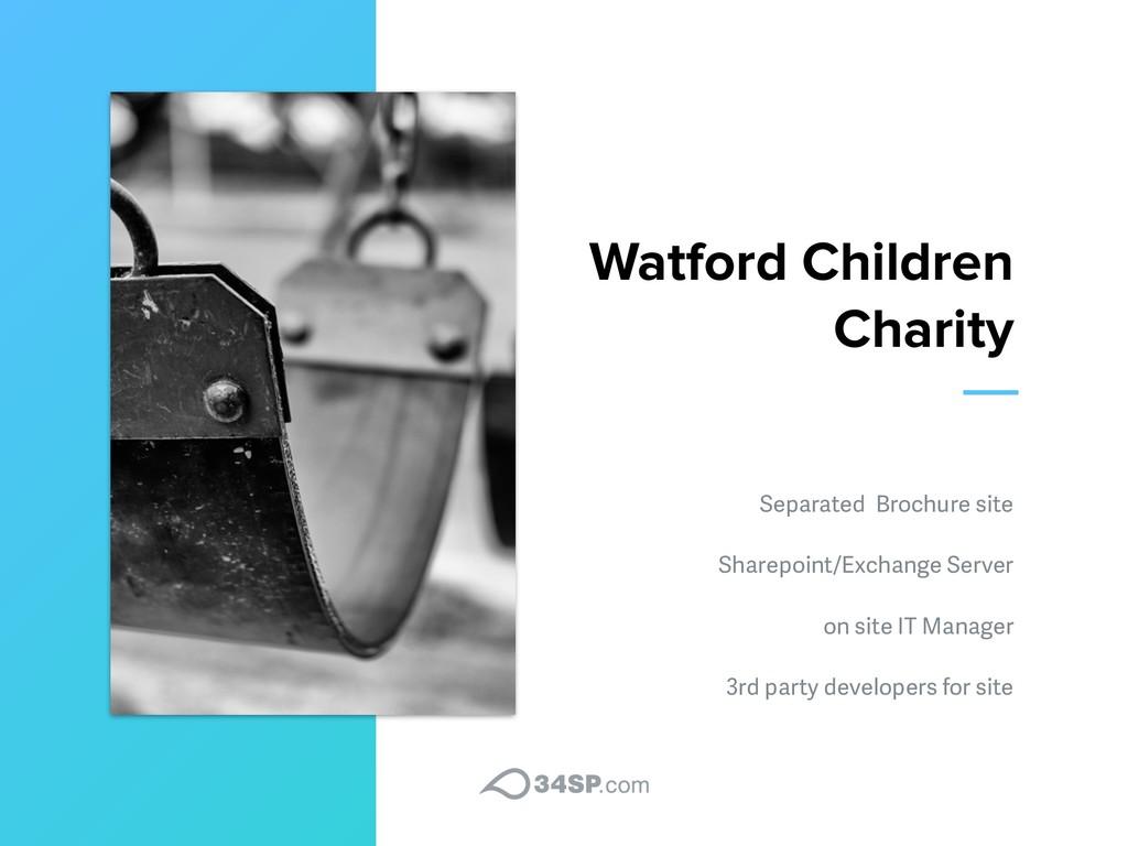 Watford Children Charity Separated Brochure sit...