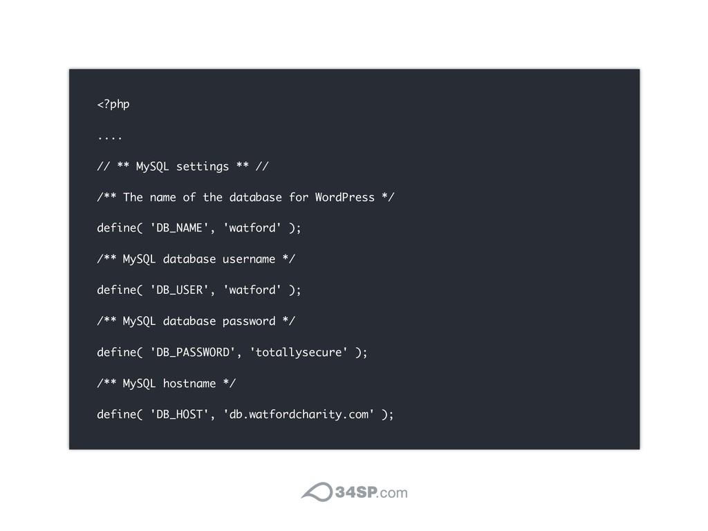 <?php .... // ** MySQL settings ** // /** The n...