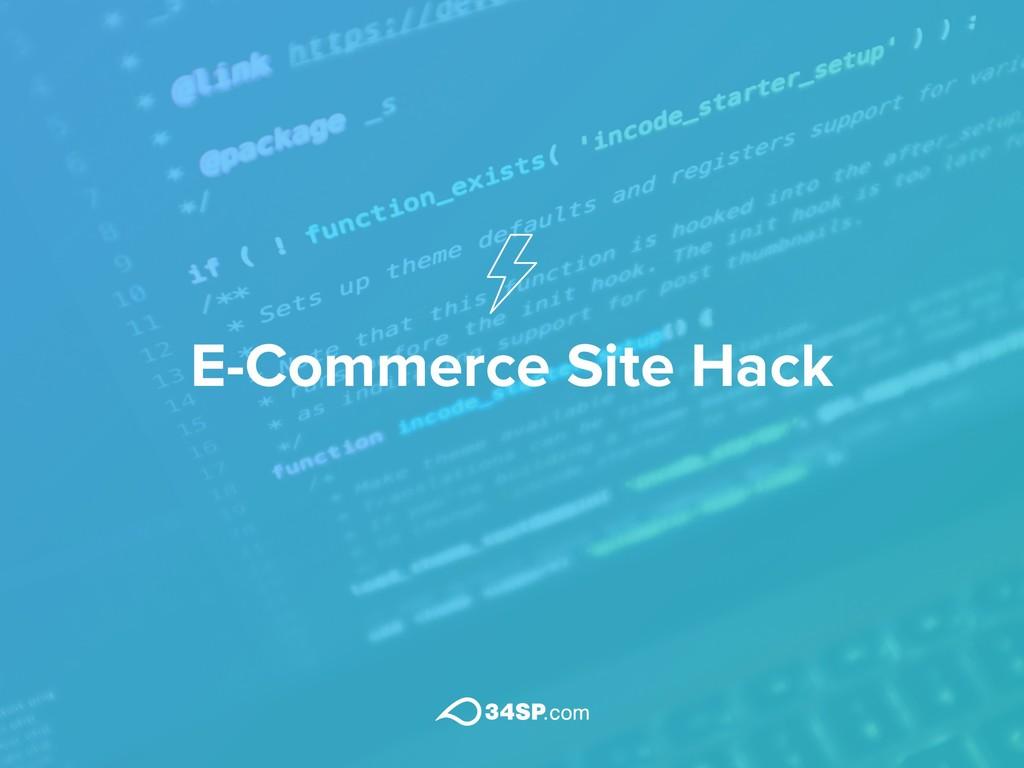 E-Commerce Site Hack