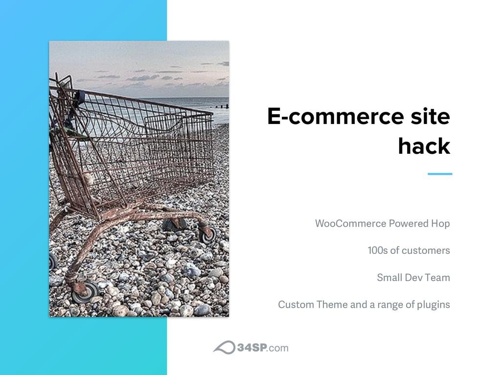 E-commerce site hack WooCommerce Powered Hop 10...