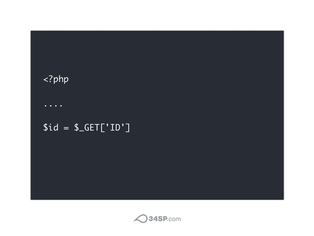 <?php .... $id = $_GET['ID']