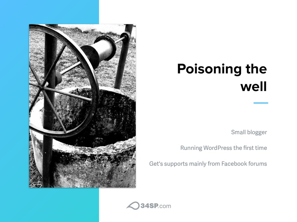 Poisoning the well Small blogger Running WordPr...