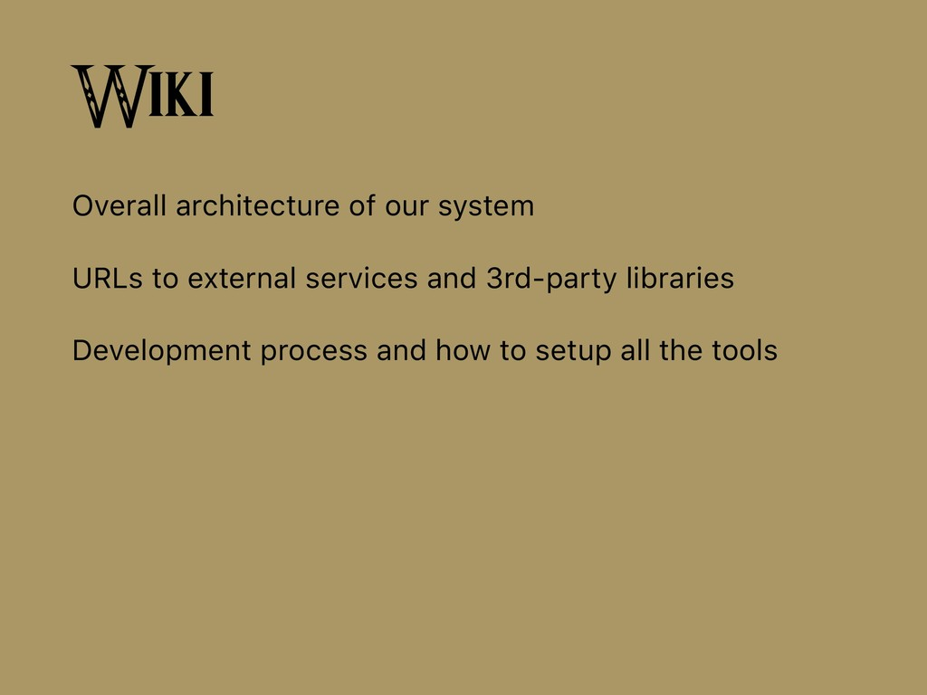 Wiki Overall architecture of our system URLs to...