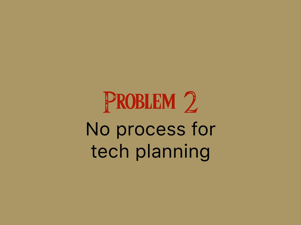 Problem 2 No process for 