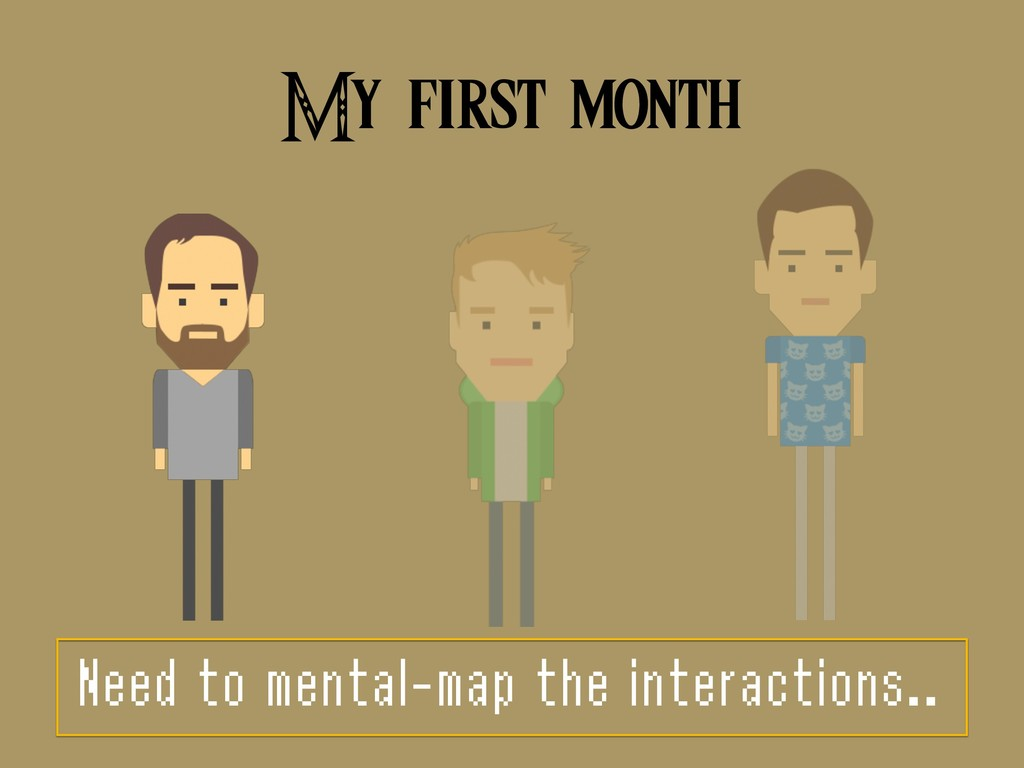 My first month Need to mental-map the interacti...