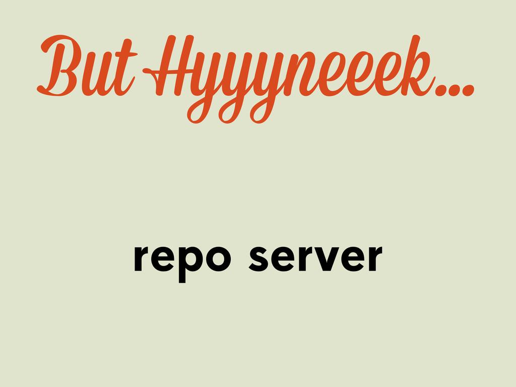 But Hyyyn ek… repo server