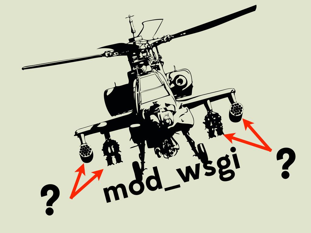 mod_wsgi ? ?