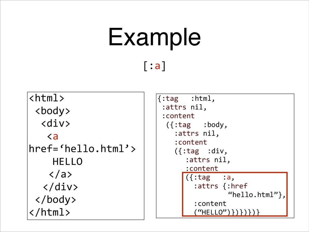 Example <html>   <body>    <div>     <...