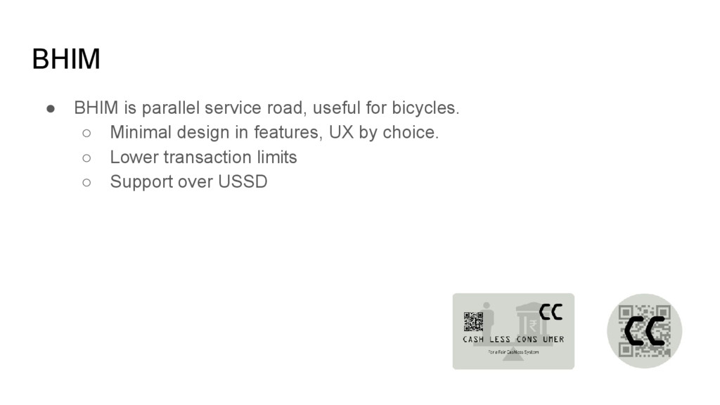 BHIM ● BHIM is parallel service road, useful fo...