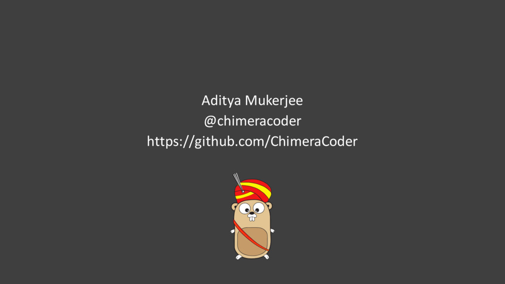 Aditya Mukerjee @chimeracoder https://github.co...