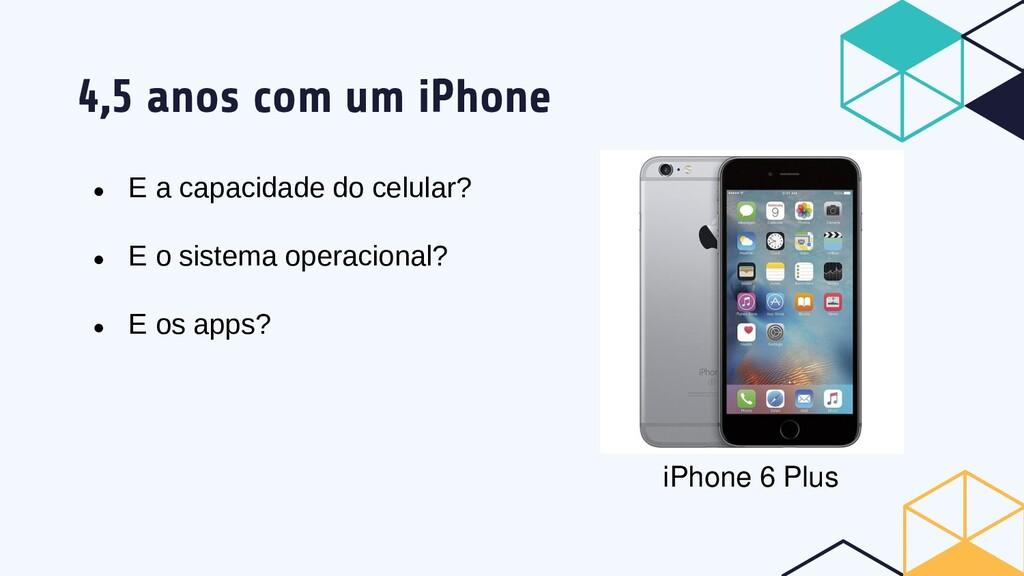 4,5 anos com um iPhone ● E a capacidade do celu...