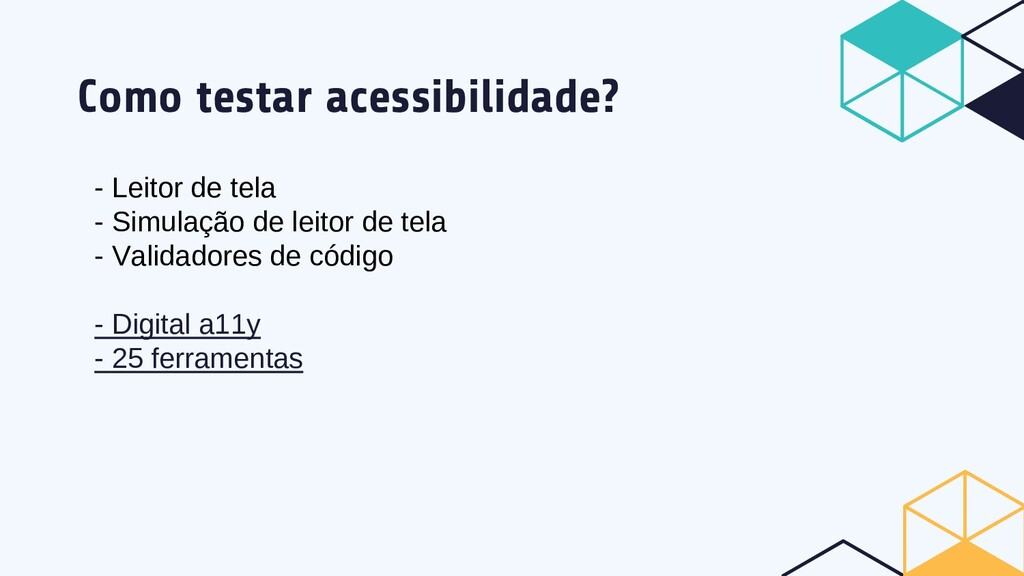 Como testar acessibilidade? - Leitor de tela - ...