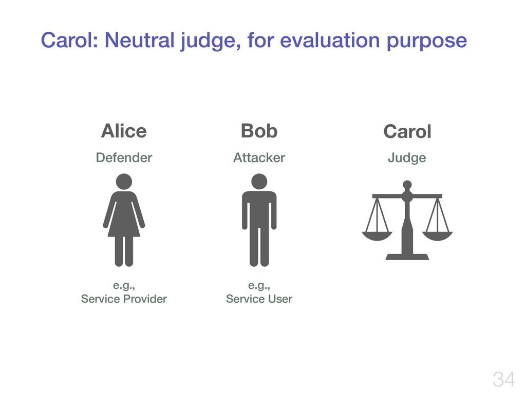 Carol: Neutral judge, for evaluation purpose !3...