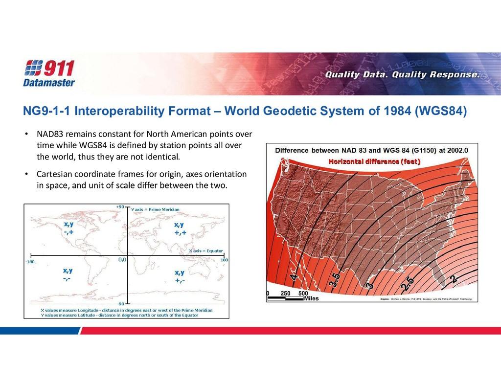NG9-1-1 Interoperability Format – World Geodeti...
