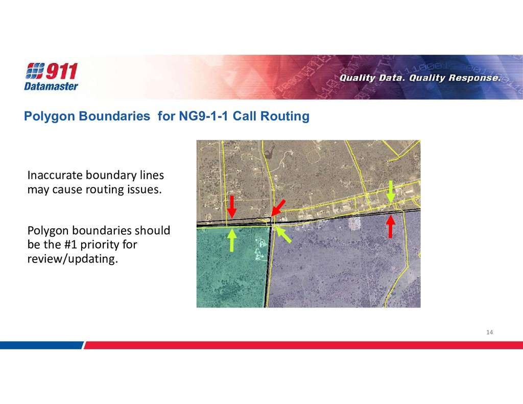 14 Inaccurate boundary lines may cause routing ...