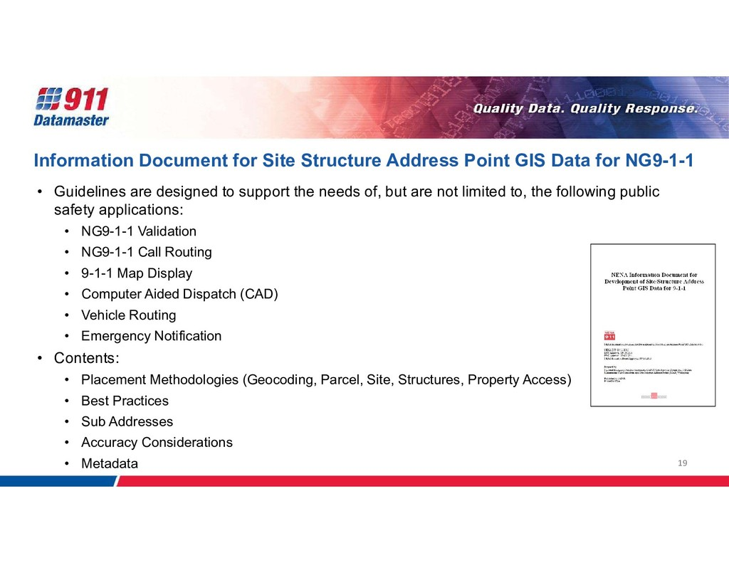 19 Information Document for Site Structure Addr...