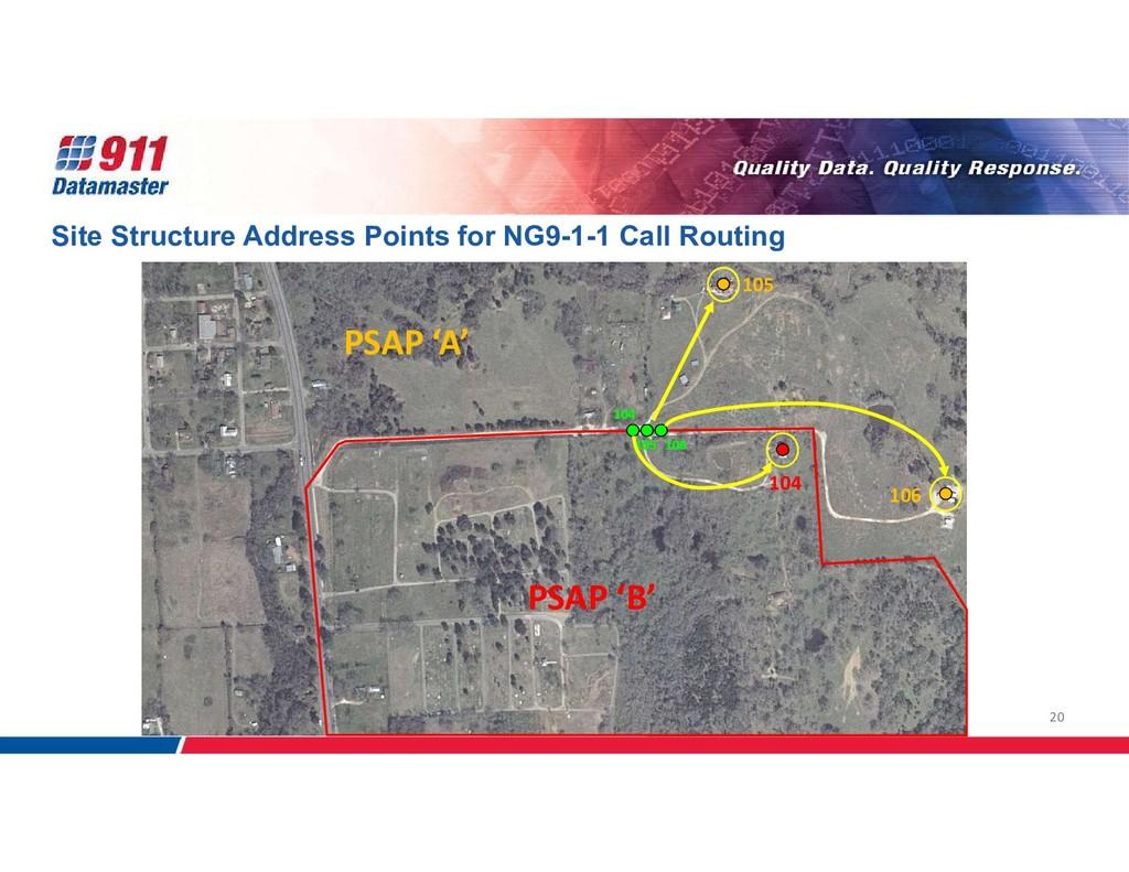 20 PSAP 'B' PSAP 'A' Site Structure Address Poi...