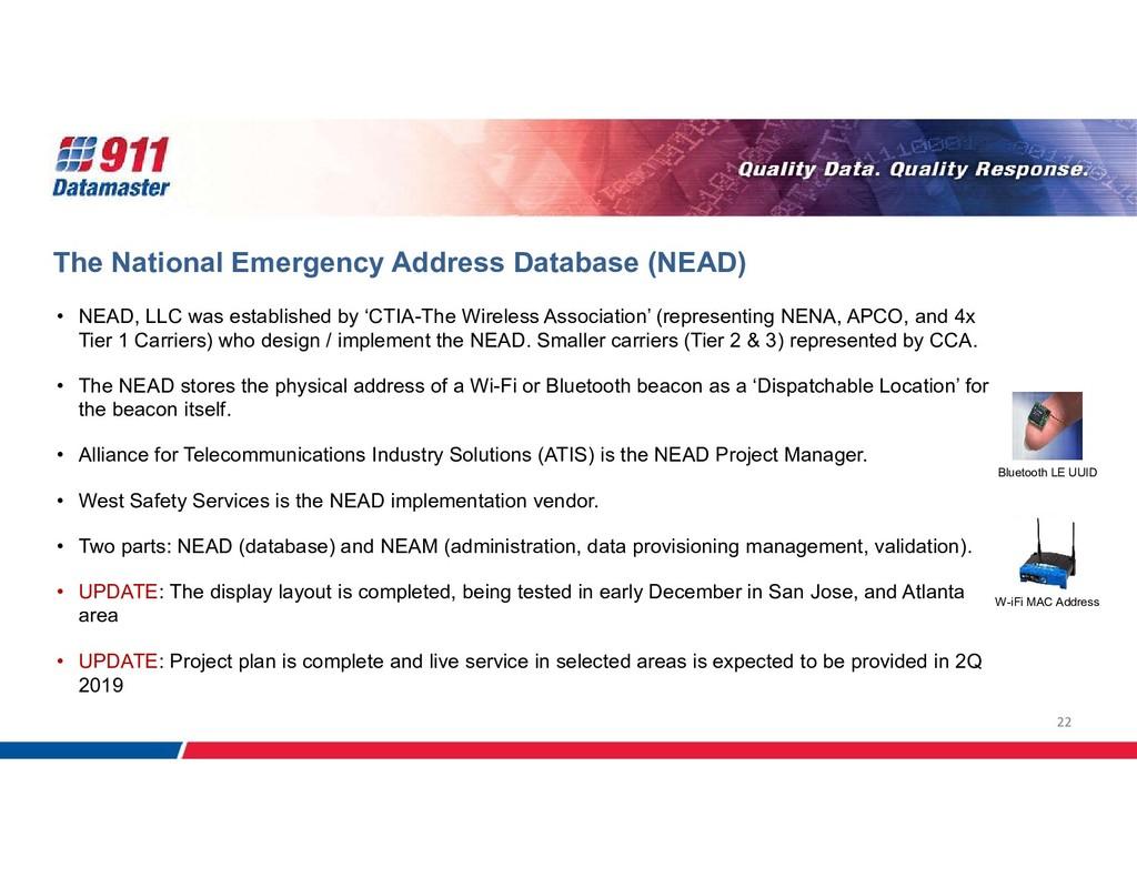 22 The National Emergency Address Database (NEA...