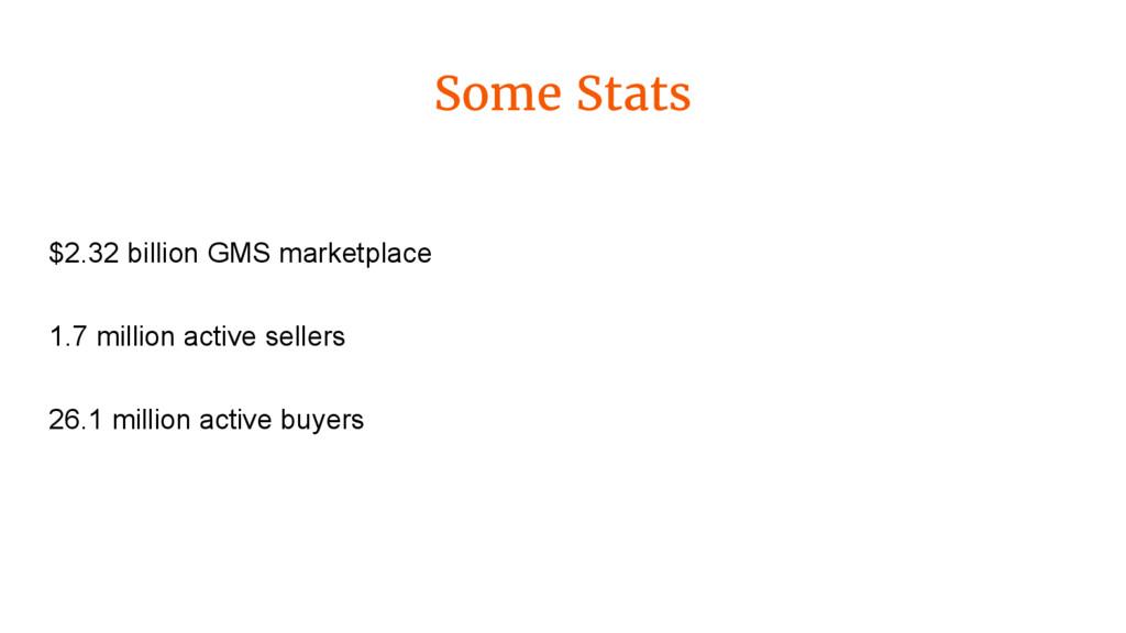 Some Stats $2.32 billion GMS marketplace 1.7 mi...
