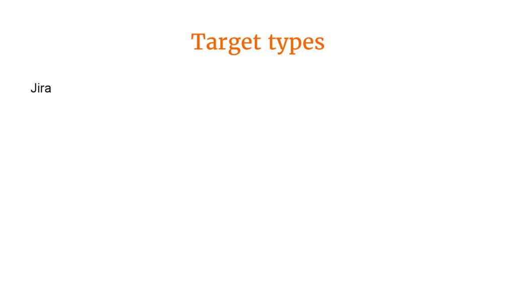 Target types Jira