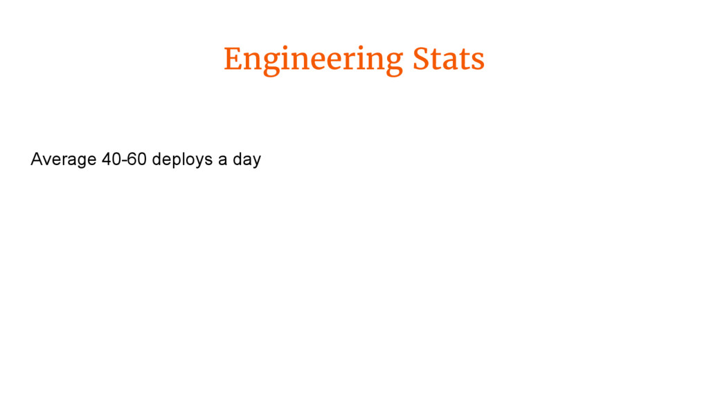 Engineering Stats Average 40-60 deploys a day