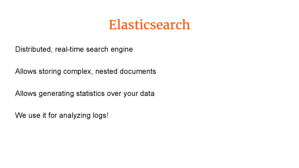 Elasticsearch Distributed, real-time search eng...
