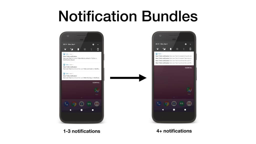 Notification Bundles 1-3 notifications 4+ notifica...