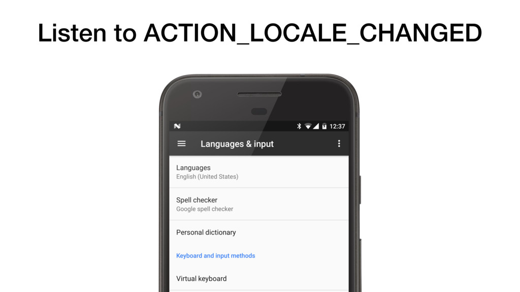 Listen to ACTION_LOCALE_CHANGED