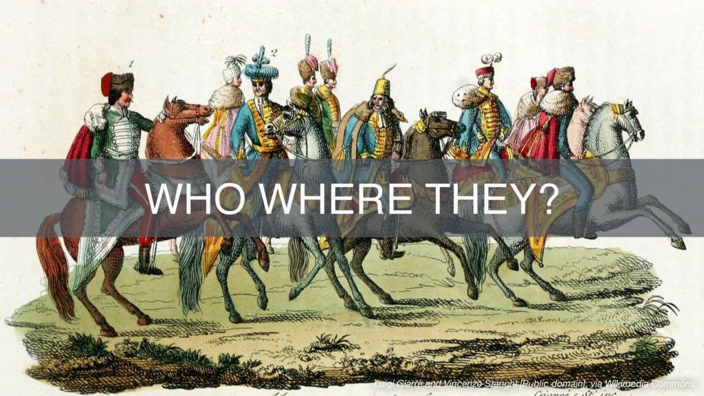 SUBTITLE TEXT WHO WHERE THEY? Luigi Giarrè and ...