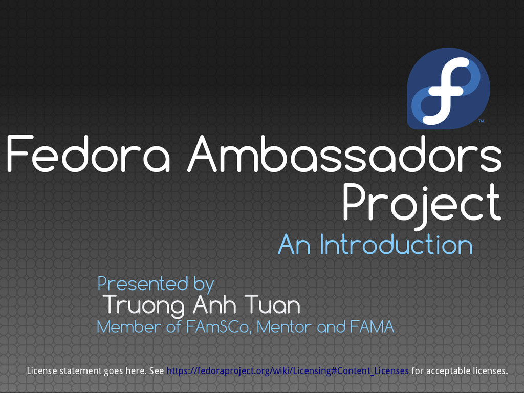 An Introduction Truong Anh Tuan Presented by Me...