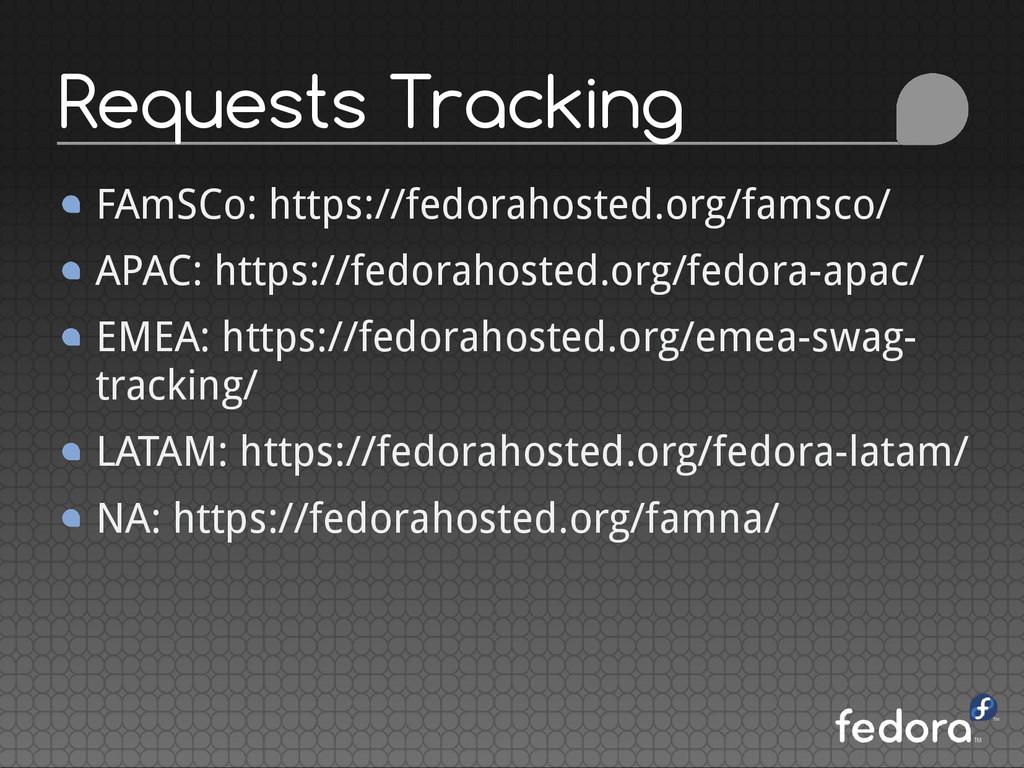 FAmSCo: https://fedorahosted.org/famsco/ APAC: ...