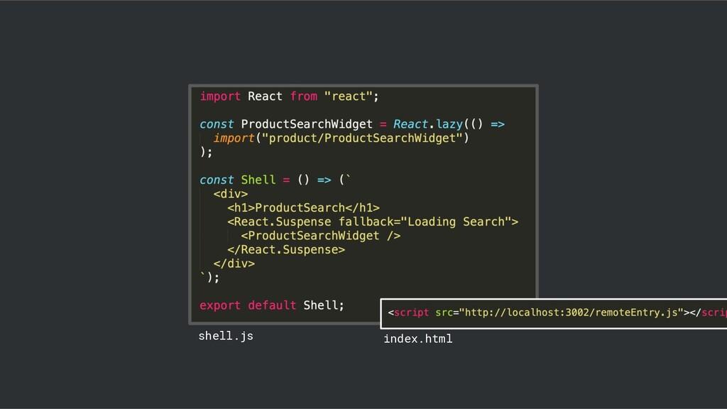 @duffleit shell.js index.html